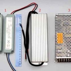 Трансформаторы для светодиодной ленты от 12V в ассортименте